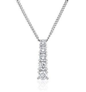Lab Diamond Life Journey Pendant Necklace 0.25ct H/Si 9K White Gold