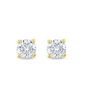 2.4mm Lab Diamond Stud Earrings 0.10ct H/Si in 9K Gold