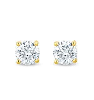 3mm Lab Diamond Stud Earrings 0.20ct H/Si in 9K Gold