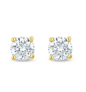 Lab Diamond Stud Earrings 0.30ct H/Si Quality in 9K Gold - 3.6mm