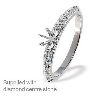 18K Ring White Gold Diamond Mount (0.26ct)