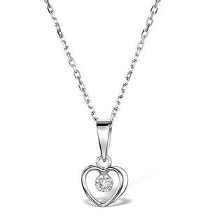 Diamond Heart Necklace in Sterling Silver - UR3229