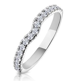 Lily Matching Wedding Band 0.45ct H/Si Diamond  in 18K White Gold