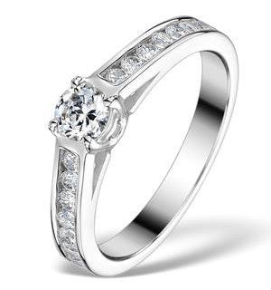 Sidestone Engagement Ring Alexa 0.95ct G/SI2 Diamond 18K White Gold