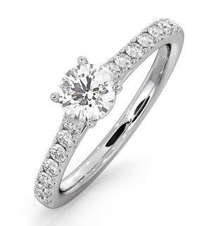 Natalia Lab Diamond Engagement Side Stone Ring 18KW Gold 0.91CT G/SI1