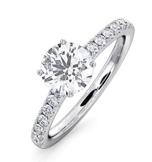 Natalia GIA Diamond Engagement Side Stone Ring 18KW Gold 0.91CT G/SI2