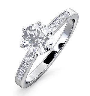 Charlotte GIA Diamond Engagement Side Stone Ring Platinum 1.20CT G/VS1