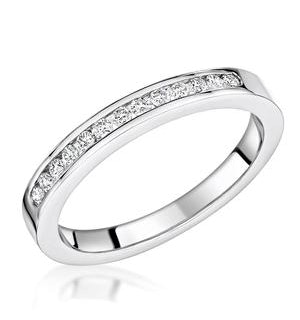 Charlotte 2.6MM Wedding Band 0.15ct H/Si Diamonds 18KW Gold