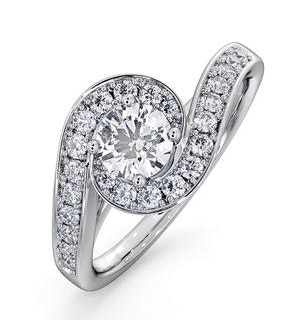 Anais GIA Diamond Engagement Halo Ring Platinum 0.82CT G/SI2