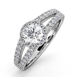 Carly GIA Diamond Engagement Side Stone Ring Platinum 1.23CT G/VS1