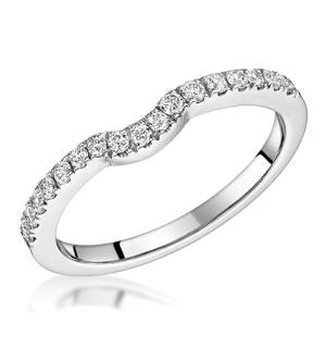 Carly Matching 2mm Wedding Band 0.25ct  H/Si Diamonds in 18KW Gold