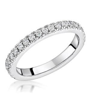 Alessandra Matching 2.6mm Wedding Band 0.42ct H/Si Diamonds 18KW Gold