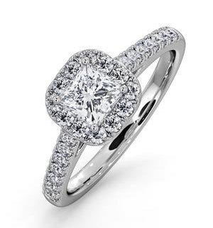 Roxy GIA Diamond Engagement Side Stone Ring in 18KW Gold 0.98CT G/VS2