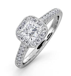 Roxy GIA Diamond Engagement Side Stone Ring in Platinum 1.22CT G/SI2