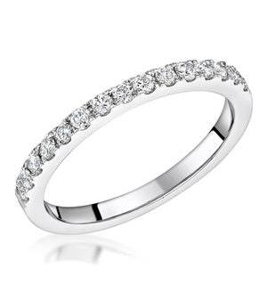 Roxy Matching 2MM Wedding Band 0.36ct H/Si Diamonds in 18K White Gold
