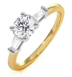 Isadora GIA Diamond Engagement Ring 18KY 0.65ct G/SI2