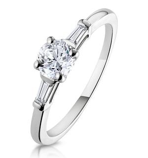 Isadora GIA Diamond Engagement Ring 18KW 0.65ct G/SI2