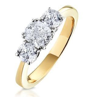 3 Stone Meghan Diamond Engagement Ring 1.7CT G/Vs2 in 18K Gold