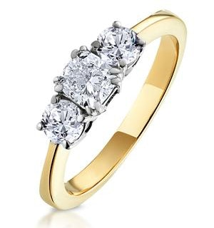 3 Stone Meghan Diamond Engagement Ring 1CT G/Vs2 in 18K Gold