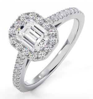Annabelle GIA Diamond Halo Engagement Ring 18K White Gold 1.35ct G/VS1