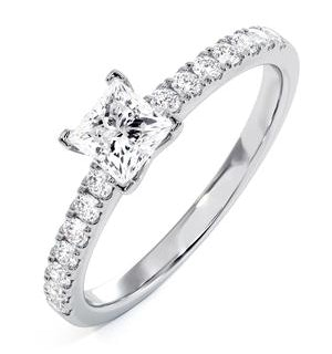 Katerina Lab Princess Diamond Engagement Ring 18KW Gold 1.00ct G/SI1