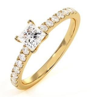Katerina Lab Princess Diamond Engagement Ring 18K Gold 1.00ct G/SI1
