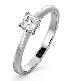 Engagement Ring Certified Lauren 18K White Gold Diamond 0.33CT-F-G/VS