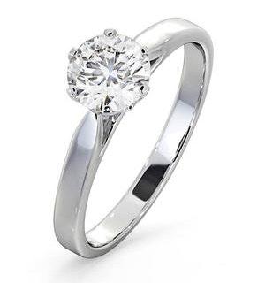 1.5ct Diamond Engagement Ring Low Set Chloe Lab G/VS1 Platinum