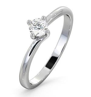 Lily Certified Lab Diamond Engagement Ring 0.25CT G/SI1 18K White Gold