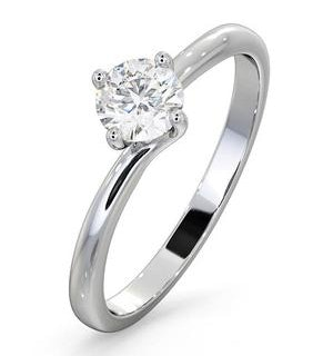 Engagement Ring Certified 0.50CT Lily Platinum E/VS2