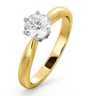 Certified 0.70CT Chloe High 18K Gold Engagement Ring G/SI2