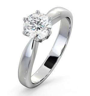 Certified 0.90CT Chloe High Platinum Engagement Ring G/SI2