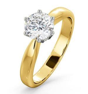 Certified 1.00CT Chloe High 18K Gold Engagement Ring E/VS1