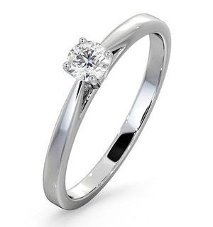 Engagement Ring Petra 0.25ct Lab Diamond H/Si in 18K White Gold