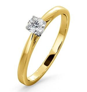 Engagement Ring Petra 0.25ct Lab Diamond H/Si in 18K Gold