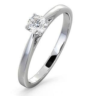 Engagement Ring Certified Petra 18K White Gold Diamond 0.33CT