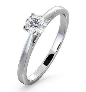Platinum Half Carat Diamond Engagement Ring Petra Lab G/SI1