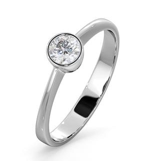 Diamond Engagement Ring - Emily Round 0.25CT H/SI - 18K White Gold