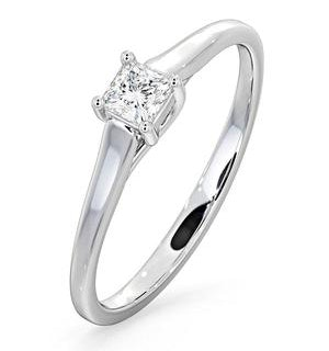 Certified Lucy 18K White Gold Diamond Engagement Ring 0.25CT-G-H/SI