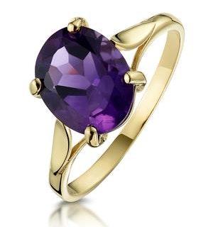 Amethyst 2.25ct 9K Gold Ring