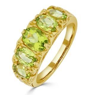 Peridot 2.72CT 9K Yellow Gold Ring