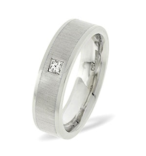 Leah  0.07CT H/SI Diamond and White Gold Wedding Ring