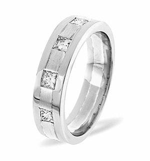 Mens 0.35ct H/Si Diamond Platinum Dress Ring