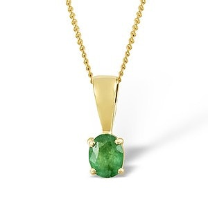 Emerald 0.33CT 9K Yellow Gold Pendant