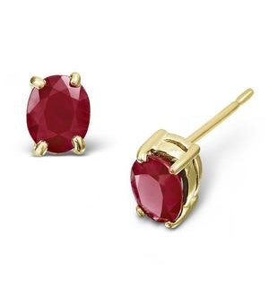 Ruby 0.73CT 9K Yellow Gold Earrings