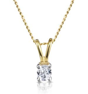 Diamond Solitaire Necklace 0.15CT Diamond 9K Yellow Gold