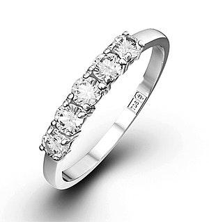 Chloe 18K White Gold 5 Stone Diamond Eternity Ring 0.50CT H/SI