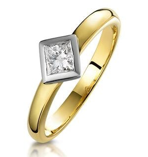 0.35ct Diamond Solitaire Princess Ring in 18K Gold