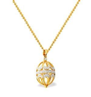 Diamond 0.22ct and 9K Gold Small Egg Pendant - RTC-G3049