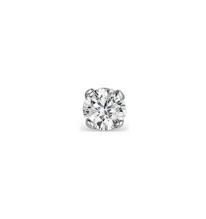 Single Stud Diamond Earring 0.07ct Premium Quality in 9KW Gold - 2.5mm